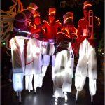 led stilt walker musicians